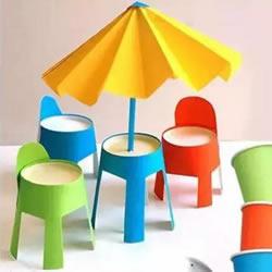 一次性纸杯手工制作椅子 儿童玩具椅子制
