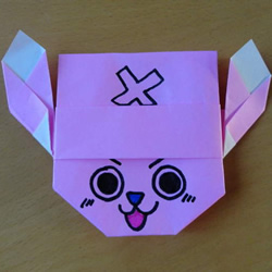 手工乔巴的折法图解 海贼王乔巴的折纸教