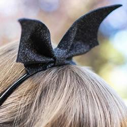 万圣节黑蝙蝠发箍DIY 手工布艺蝙蝠发饰制作