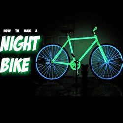 自制发光自行车的方法 磷光自行车DIY制作