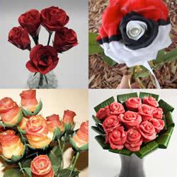 不寻常材质制作而成的玫瑰花 不但好看还好吃