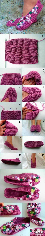 嬰兒鞋的毛線編織方法 嬰兒毛線鞋織法圖解