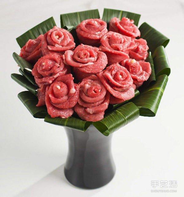 不寻常材质制作而成的玫瑰花 不但好看还好吃 -  www.shouyihuo.com