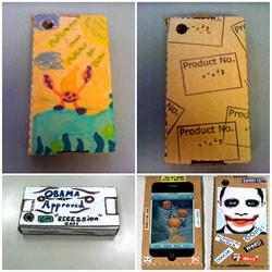 利用硬纸板自制个性手机壳的展开图纸