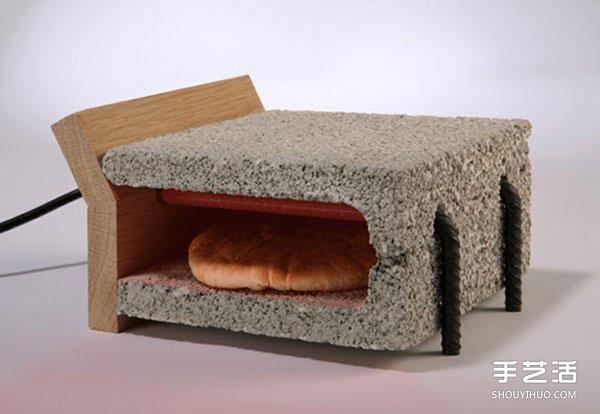 鋼筋水泥DIY的烤麵包機 平時還能當椅子做!