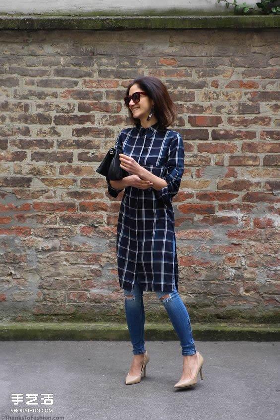 洋裝配長褲的新穿法 讓你不買新衣也能跟流行
