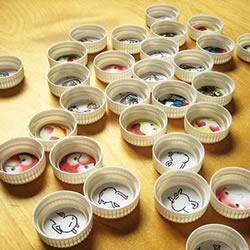 记忆力游戏手工小制作 塑料瓶盖DIY幼儿玩具