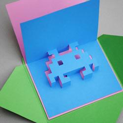 如何自制八位元立体卡片的方法步骤带图纸