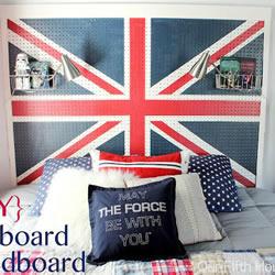 自制英伦风床头板的方法 带收纳的床头板DIY