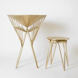黄铜雨伞桌凳设计 从中国传统油纸伞取经