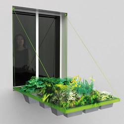 活动式窗台改造 让绿色盆栽成为最独特那