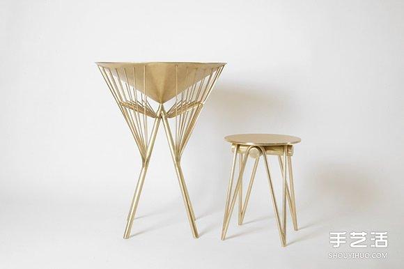 黃銅雨傘桌凳設計 從中國傳統油紙傘取經