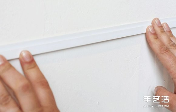 利用塑料條手工製作照片牆 塑膠條相片架DIY