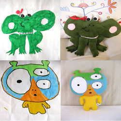 儿童涂鸦变身创意布艺玩具 永久珍藏的布