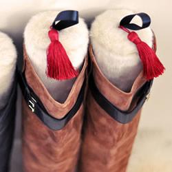 利用塑料瓶自制鞋撑 简单长靴支撑架DI