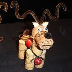 圣诞节软木塞DIY图片 圣诞红酒瓶塞手工小制作