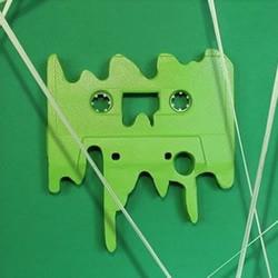 录音磁带废物利用 手工制作呆呆表情卡带