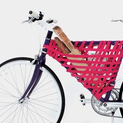 自己动手编自行车篮 准备好松紧带就来DIY吧