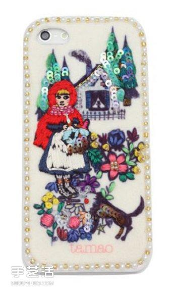 童话般的刺绣工艺 制作出独特又可爱的手机壳 -  www.shouyihuo.com
