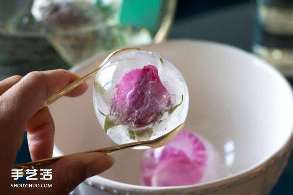 味觉与视觉的夏日盛宴 清凉玫瑰冰块的做法 -  www.shouyihuo.com