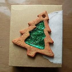 树脂粘土制作圣诞树饼干 糖心饼干粘土DIY教程