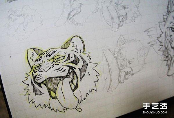 能吃下肚的画布:手绘精致老虎煎饼的做法