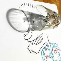 创意影子画的画法 儿童影子画作品图片