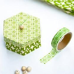 彩色胶带纸改造包装盒 包装盒手工改造DIY教程