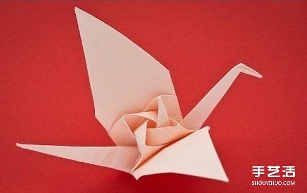 摺紙玫瑰千紙鶴的教程