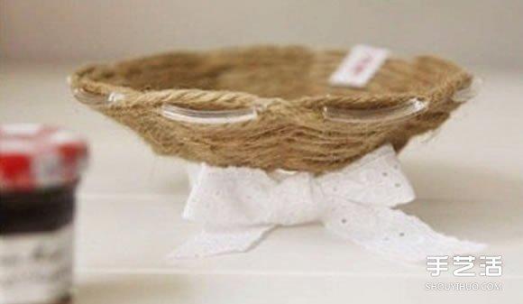 麻繩收納盤製作方法圖解 DIY麻繩收納盤子教程