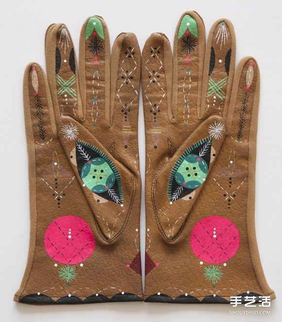 老旧手套彩绘计划 童话风格让人重新爱上它! -  www.shouyihuo.com