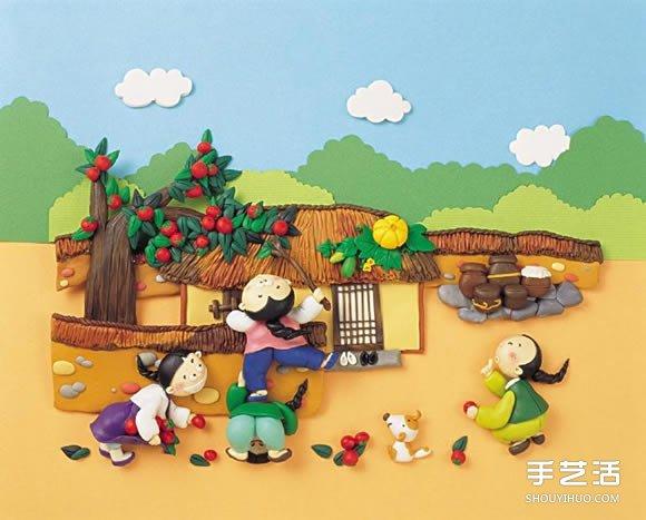 韓國粘土插畫作品欣賞 精緻的粘土插畫圖片