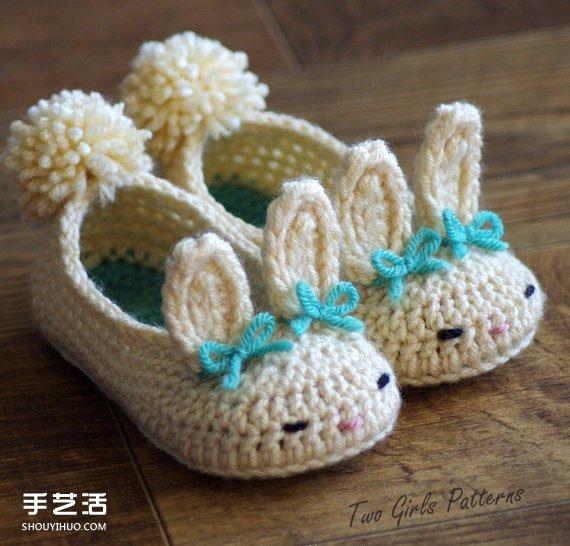 超Q毛線針織嬰兒鞋作品 手工寶寶毛線鞋圖片
