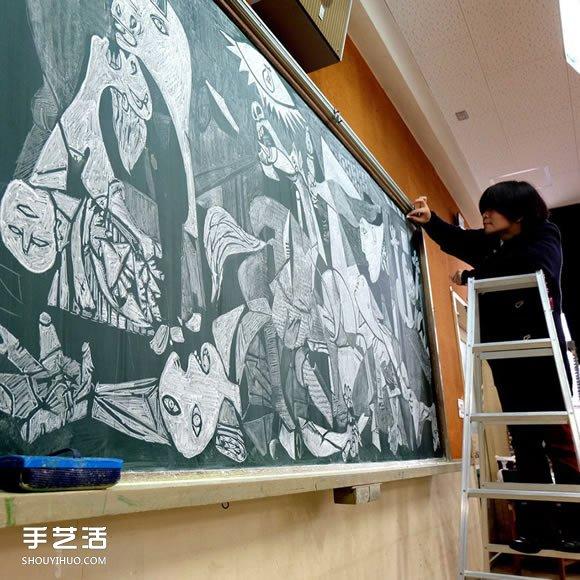 日本画黑板报神人:老师~确定不考虑转职吗? -  www.shouyihuo.com