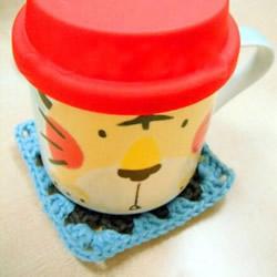 温暖的钩针杯垫编织教程 最适合天凉季节用啦~