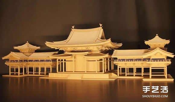 瓦楞纸制作的纸模型世界 知名日本古建筑物 -  www.shouyihuo.com