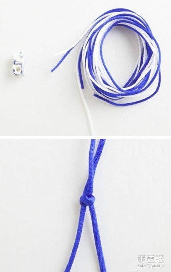 青花瓷手鏈的編織方法 DIY青花瓷手鏈的編法