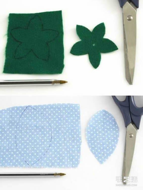 不織布玫瑰花束製作 布藝玫瑰的做法步驟圖解