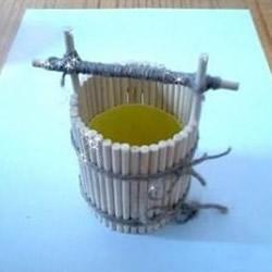 口香糖瓶子废物利用DIY手工制作水桶模型