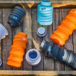 喝多喝少一罐就搞定 伸缩自如携带式水瓶设计