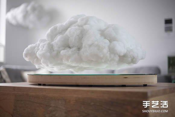 採用磁懸浮技術的雲朵造型藍牙音箱設計