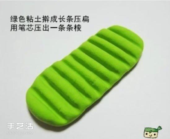超轻粘土猕猴桃制作 手工粘土猕猴桃片图解 -  www.shouyihuo.com