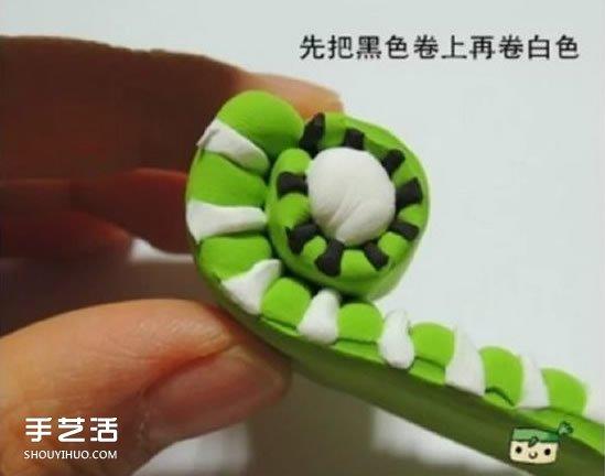 超輕粘土獼猴桃製作 手工粘土獼猴桃片圖解