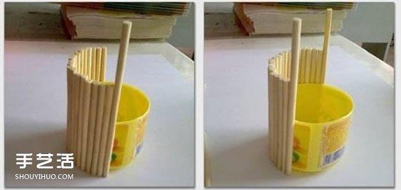 口香糖瓶子廢物利用DIY手工製作水桶模型