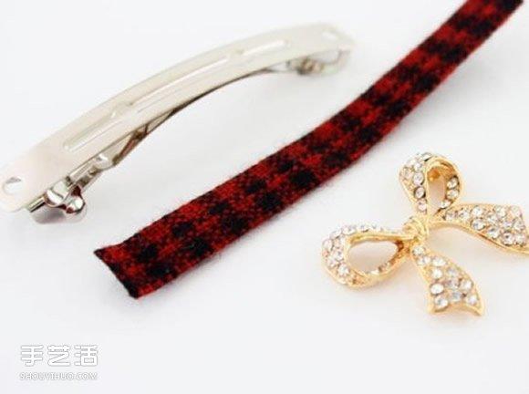 簡單DIY蝴蝶結髮夾步驟 蝴蝶結髮夾手工製作
