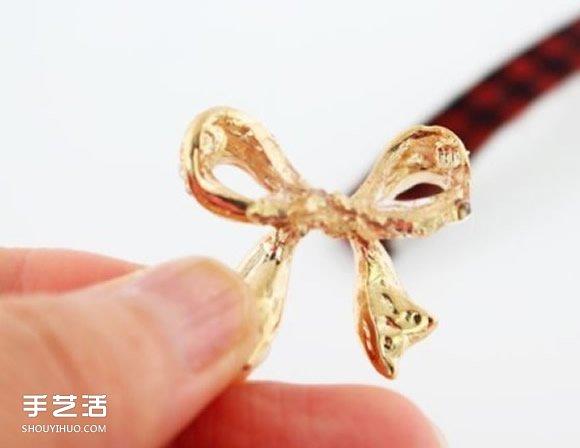 简单DIY蝴蝶结发夹步骤 蝴蝶结发夹手工制作 -  www.shouyihuo.com