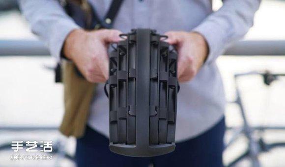可折叠式自行车头盔设计 收纳和携带都方便 -  www.shouyihuo.com