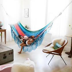 梦一般慵懒生活:就这样在室内装个吊床吧!