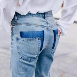 旧牛仔裤创意口袋DIY 拥有最流行的掉落口袋