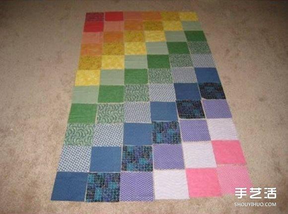 好看的寶寶地毯DIY 手工布藝製作嬰兒地毯